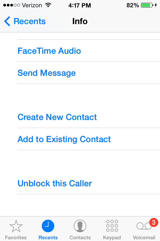How to go to blocked numbers on iphone 7