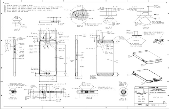 Designing an iPhone 5c/5s case? Here are your official Apple