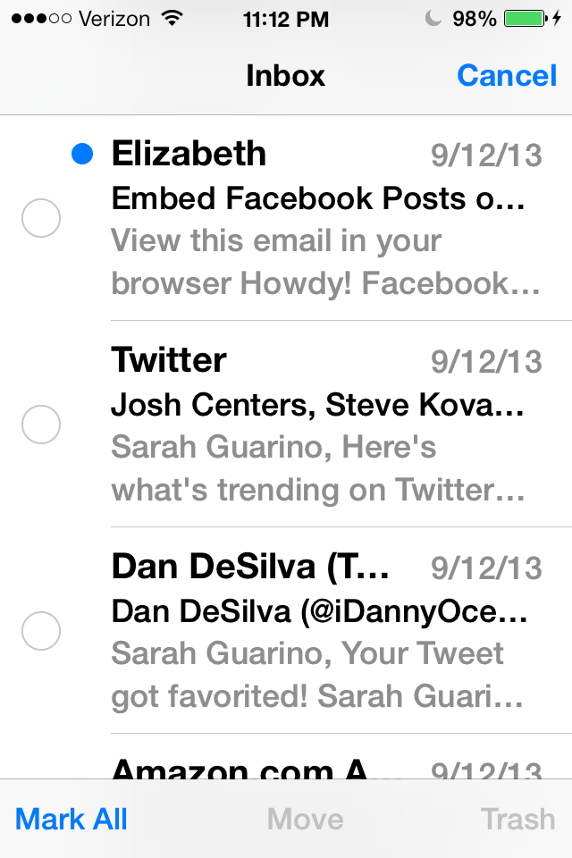 What Does It Mean To Archive An Email >> Ios 7 How To Easily Delete Not Archive Your Gmail Messages In