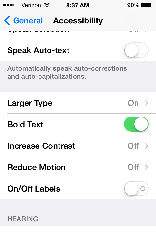 iOS 7 How-to: Reduce parallax motion effects, enable bold text - 9to5Mac