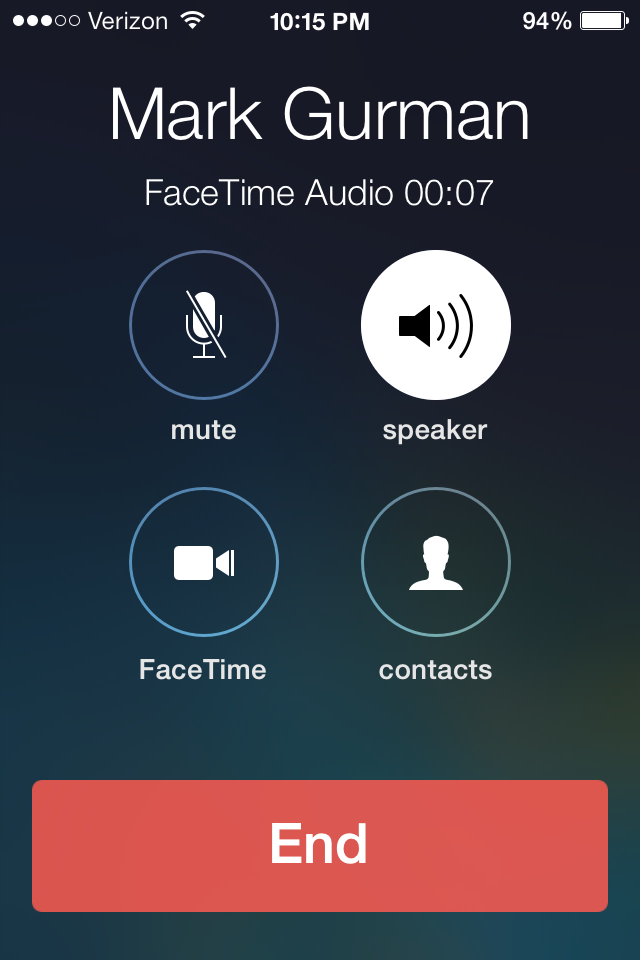 iOS 7 How-to: Make FaceTime Audio calls and check how much data they