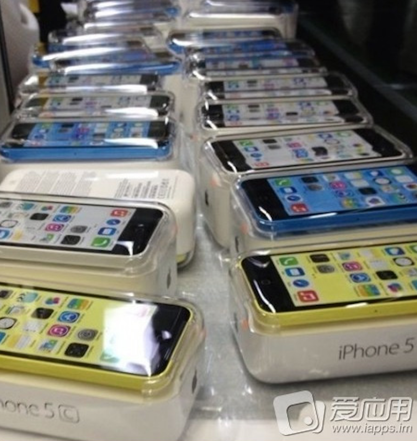 Photos Claim To Show Iphone 5c Packaging Color Matched