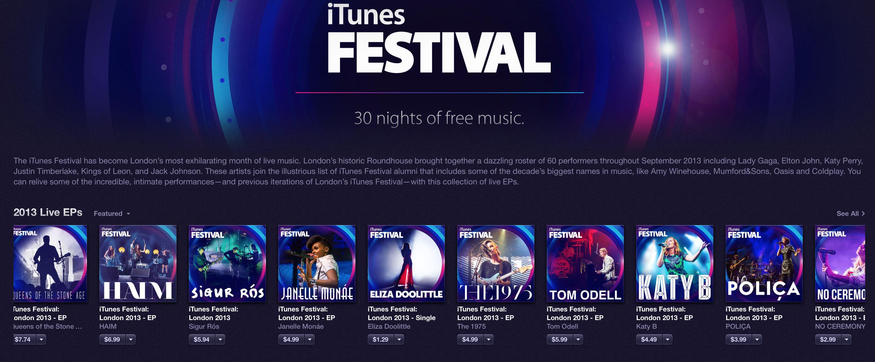 iTunes-Festival-EPs