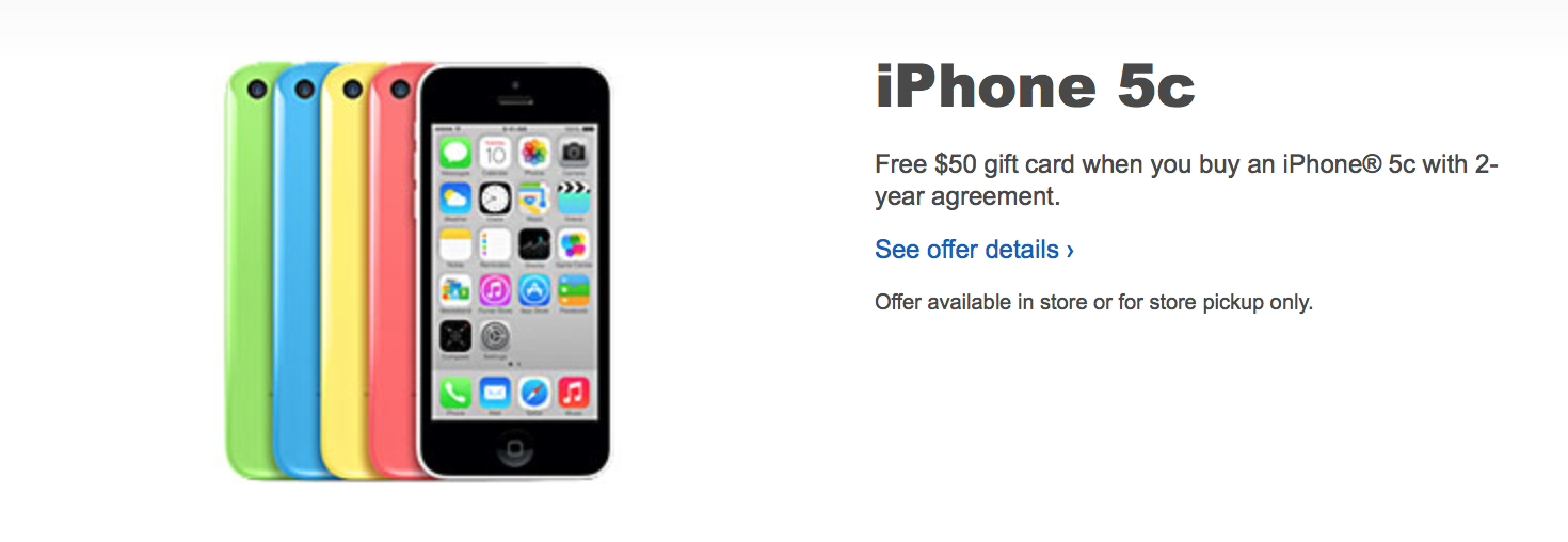 Best Buy Giving Out 50 Gift Cards With Iphone 5c Purchases Through Oct 7 9to5mac