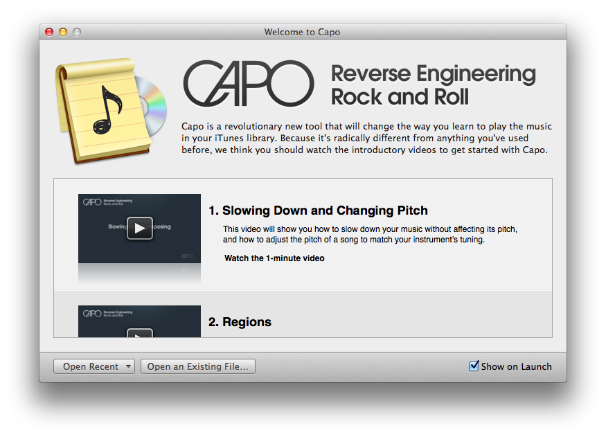 Capo 3 for Mac launches with automatic chord detection, beat