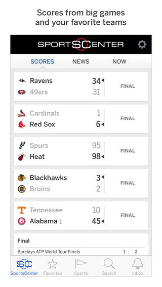 ESPN launches new SportsCenter app for real-time, personalized news