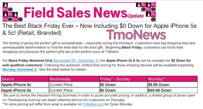 T Mobile Regional Carriers Offering Iphone 5s And 5c For 0 Down