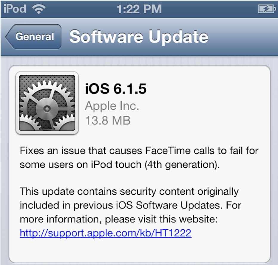 aggiornamento ios 7.0.4