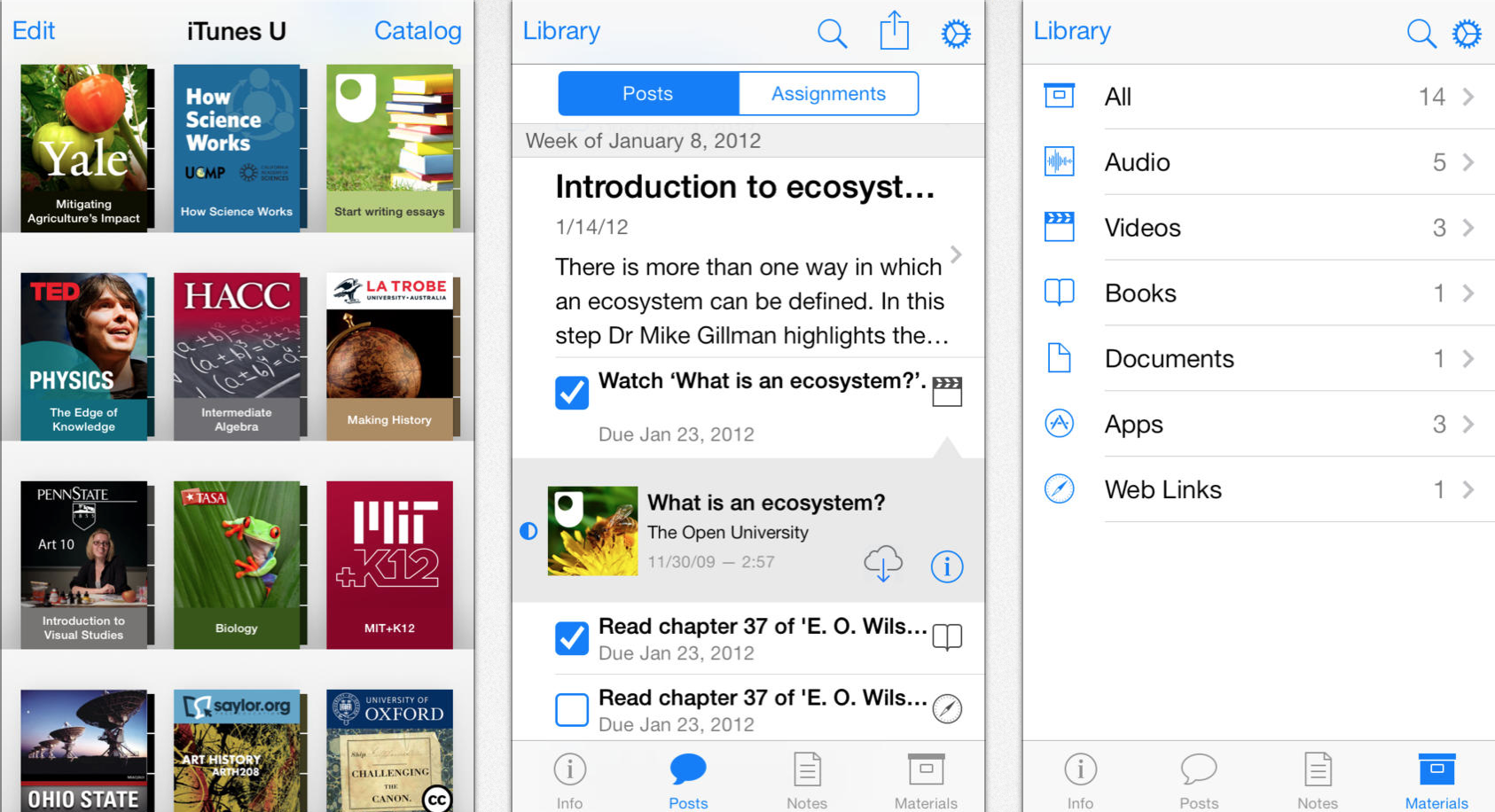 Le Revamps Design Of Ibooks And Itunes U For Ios 7 On Ipad Iphone