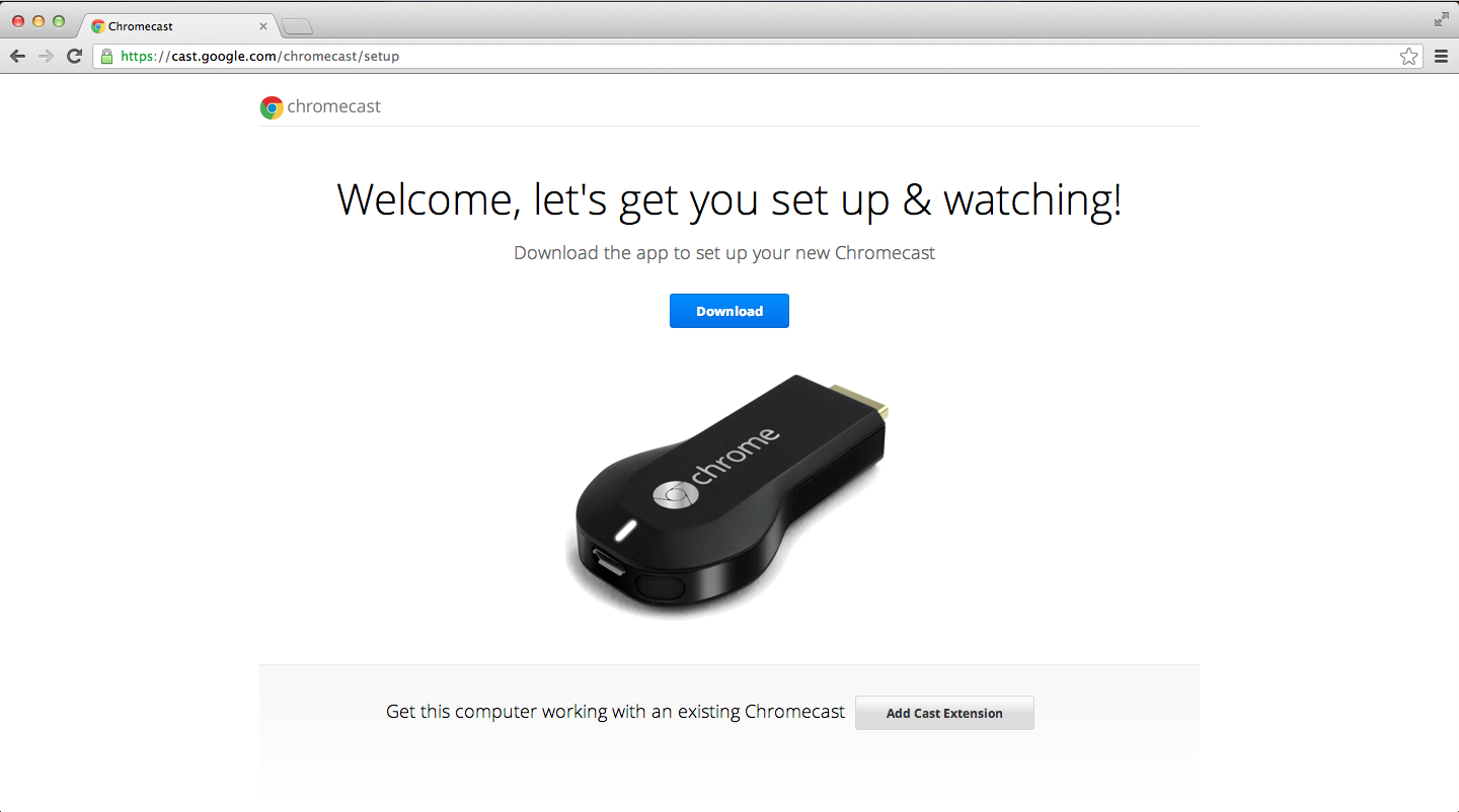 extension chromecast