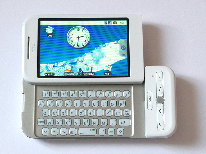The HTC Dream: the first Android handset to go on sale