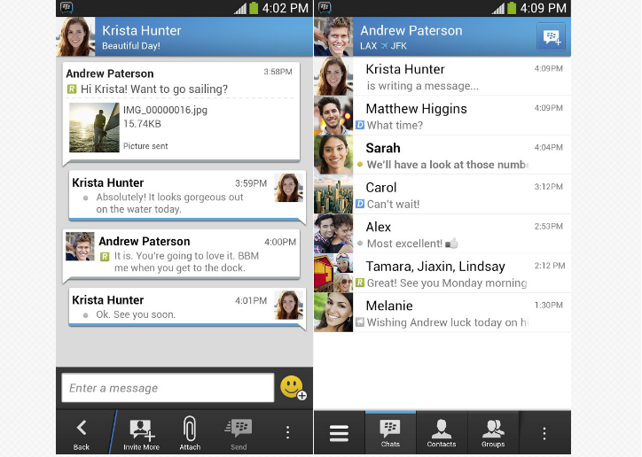 BlackBerry announces 40 million users registered on BBM for iOS/Android