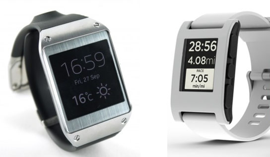 Samsung Galaxy Gear and Pebble Smart Watch