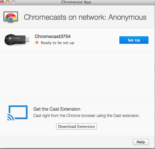 Configure chromecast from pc