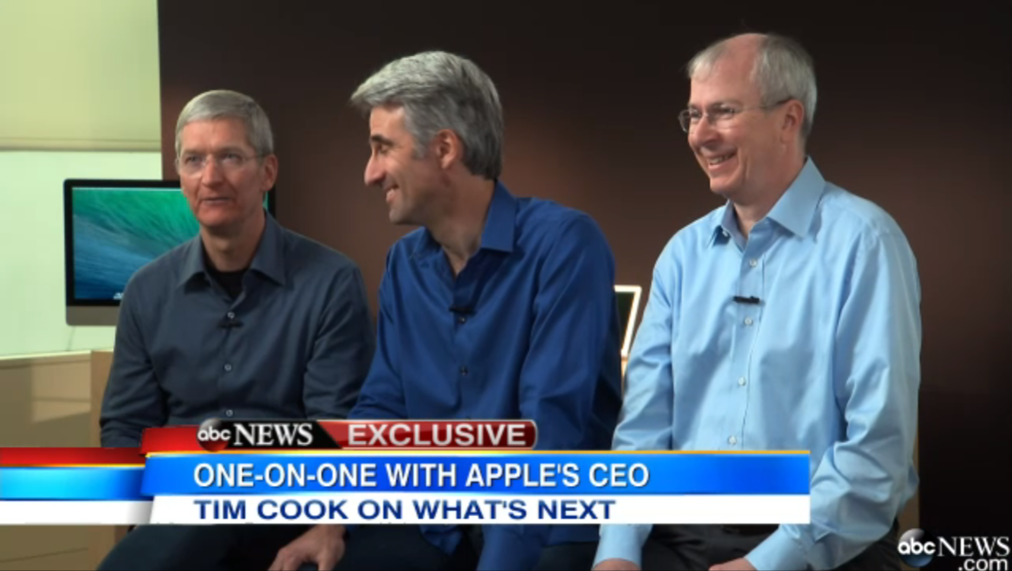 Tim Cook Craig Federighi Talk 30 Years Of Mac Secrecy Nsa And Sapphire Crystal In Abc Interview 9to5mac