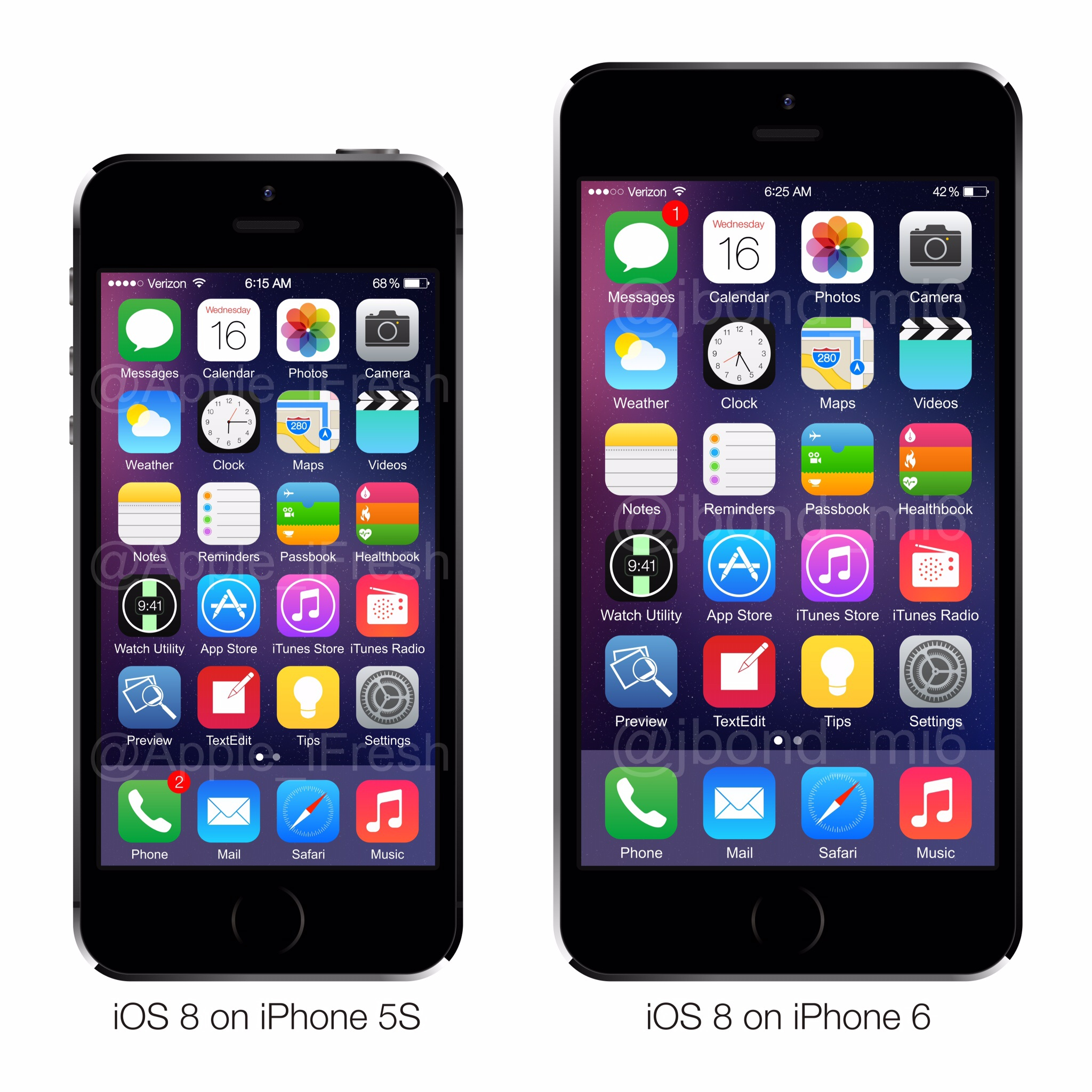 ios 8 on iphone 5s and iphone 6 9to5mac. Black Bedroom Furniture Sets. Home Design Ideas
