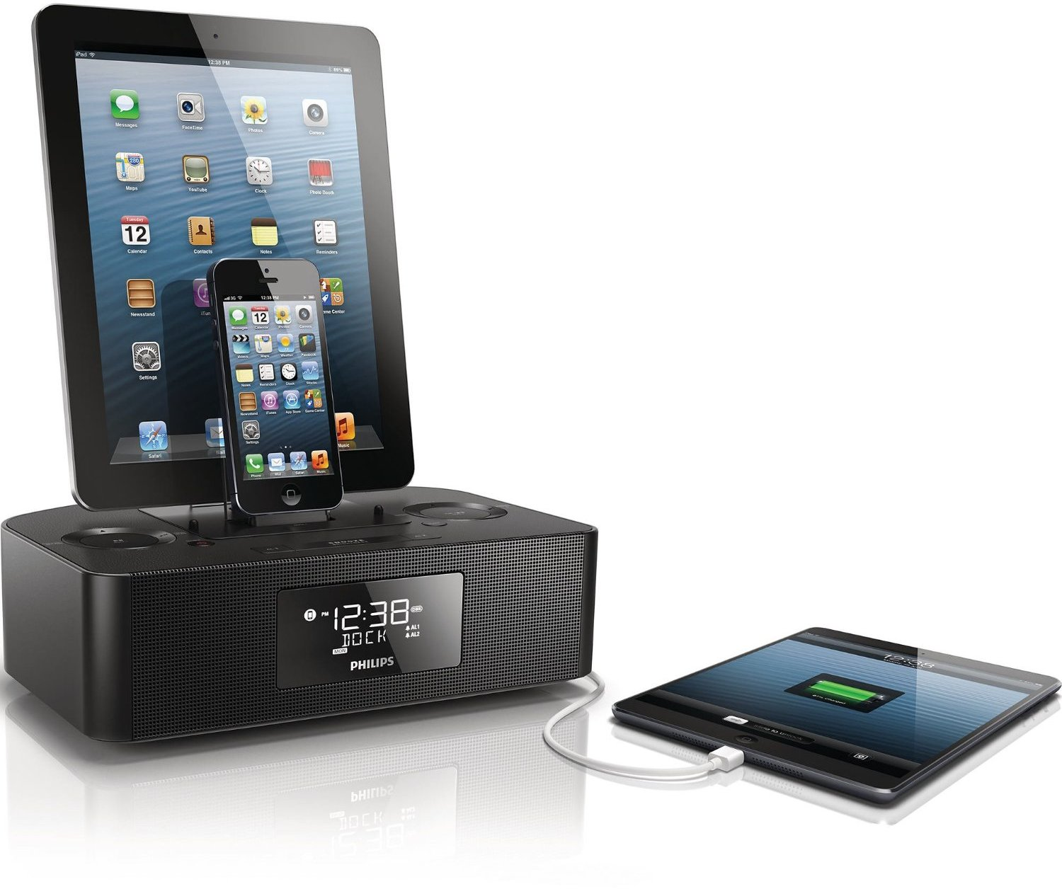 Review- Philips AJ7260D:37 Dual Dock Triple Charging Clock Radio