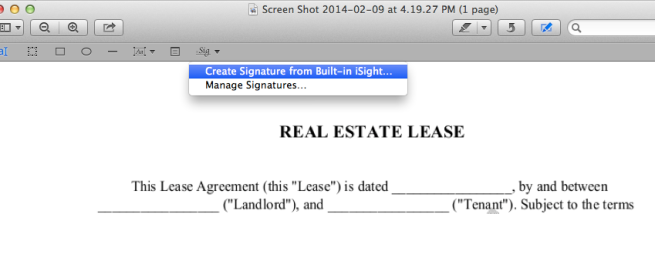 how to add signature in preview pdf