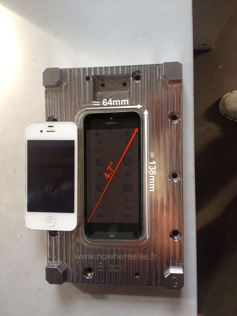 New picture of supposed iPhone molds further indicates 4.7-inch screens incoming