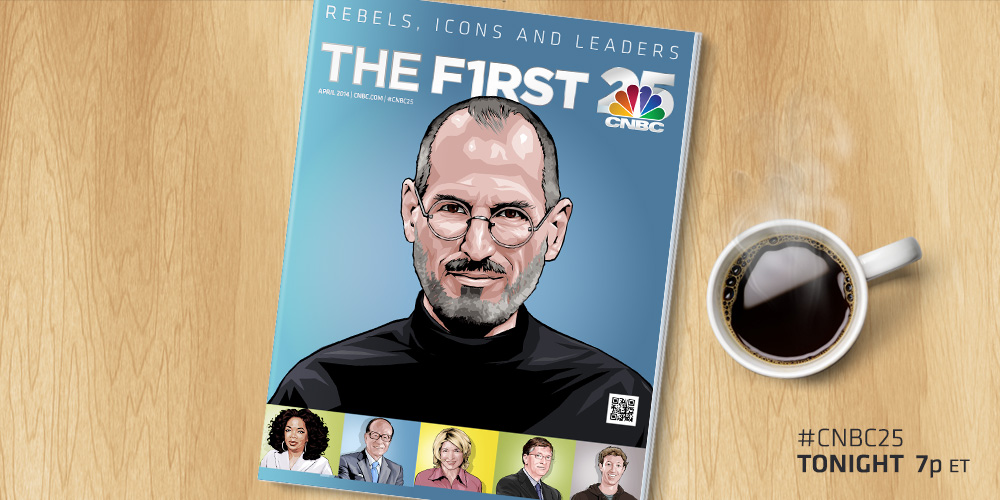Steve Jobs named #1 in CNBC's list of the most influential leaders in the past 25 years