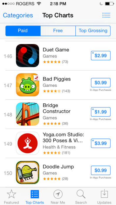 App-Store-Top-charts