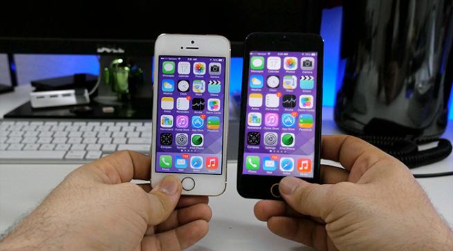 "iPhone 5s vs ""iPhone 6"""