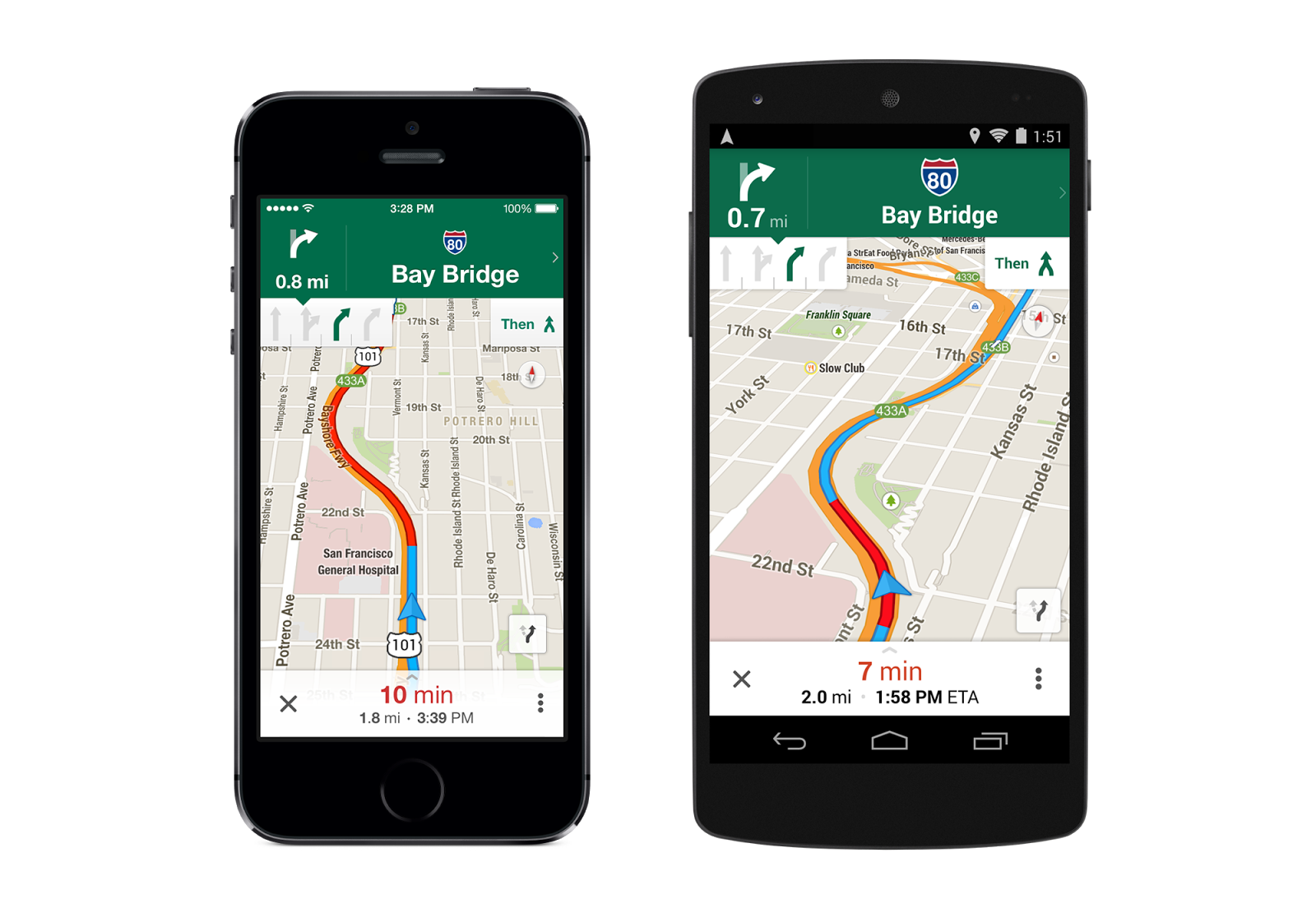 Google Maps For Ios Updated With Lane Guidance Improved Offline
