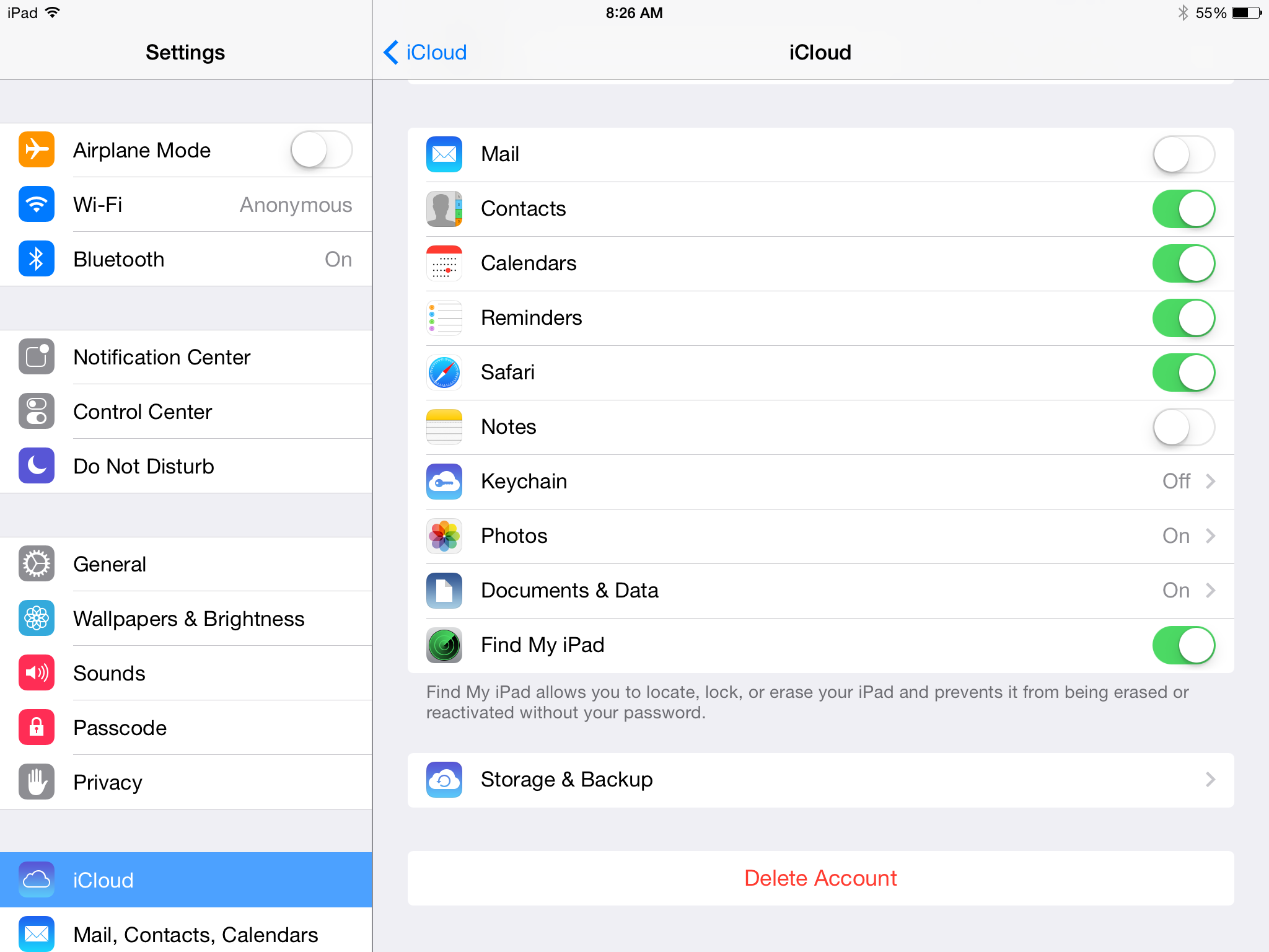 How to change icloud email on ipad air