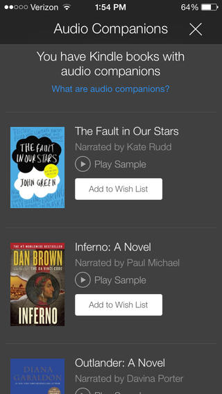 Amazon integrates Audible audiobooks directly into Kindle