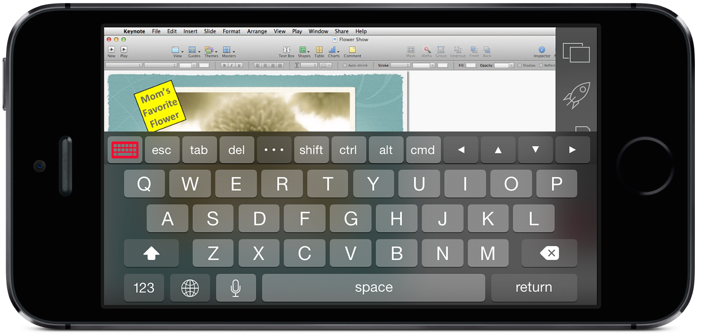 PAX2_iPhone_5s_Horz_SpaceGray_Keyboard in Keynote