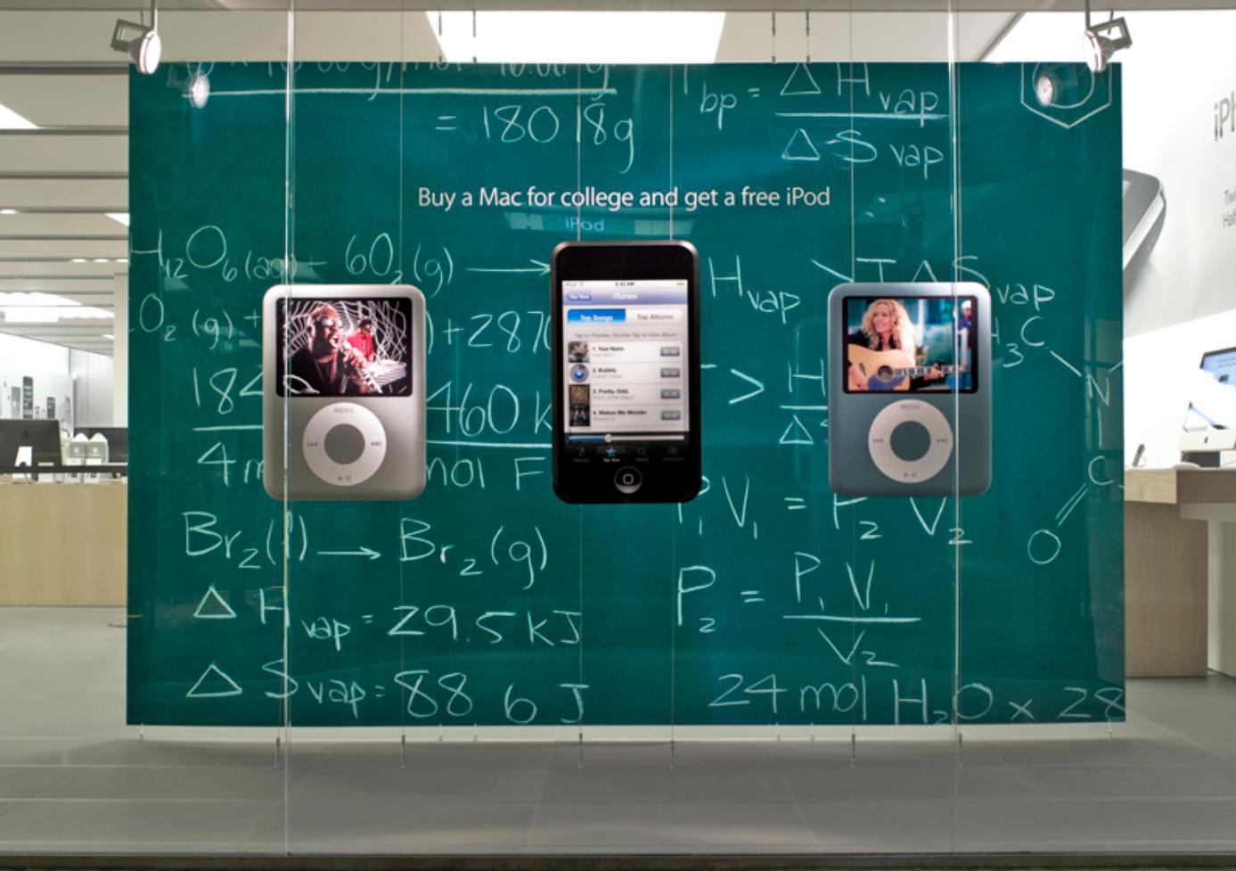 Retro Apple Store Back to School display