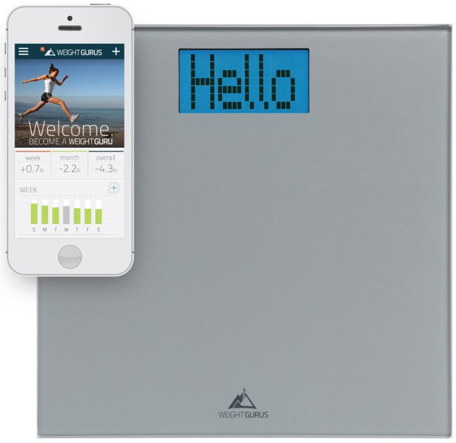 weight-gurus-smartphone-connected-digital-bathroom-scale-with-large-backlit-lcd-and-weightless-technology