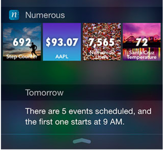 Numerous Notification Center widget
