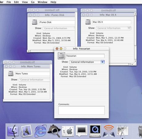 OS X Inspector window