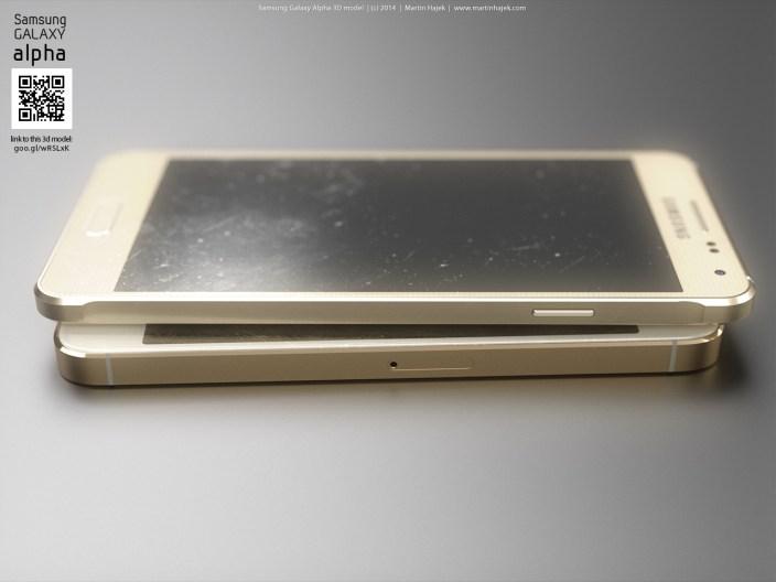 Samsung Alpha iPhone 5s render