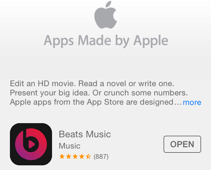 Beats Music Apple App Store
