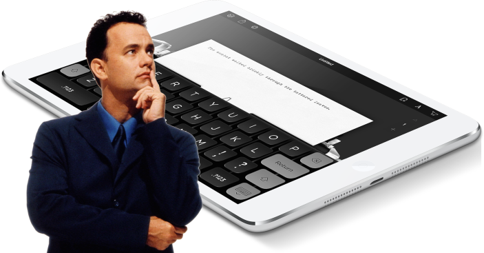 Tom Hanks iPad