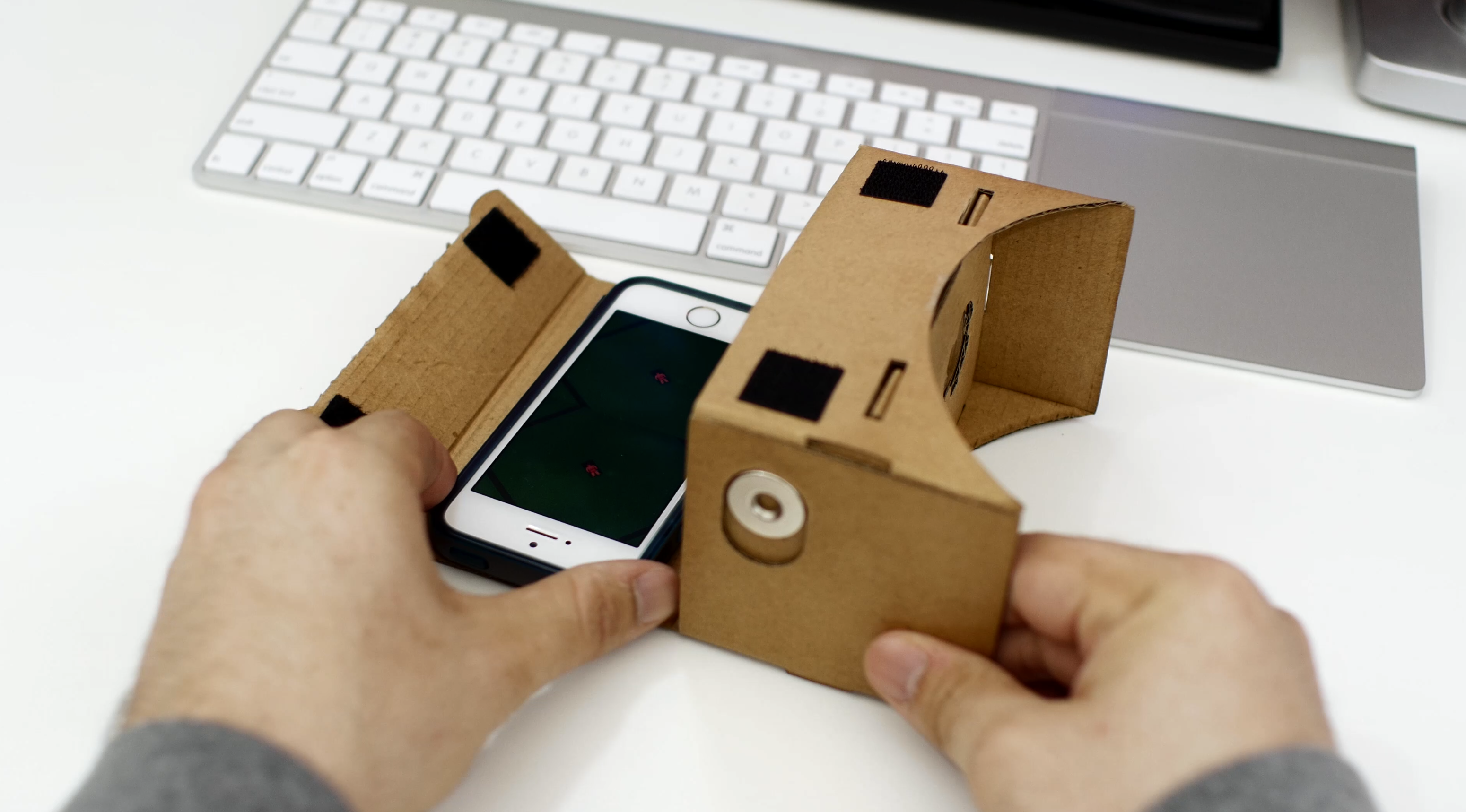 c4af1c1b07a Makeshift Apple VR headset  How to use Google Cardboard with an ...