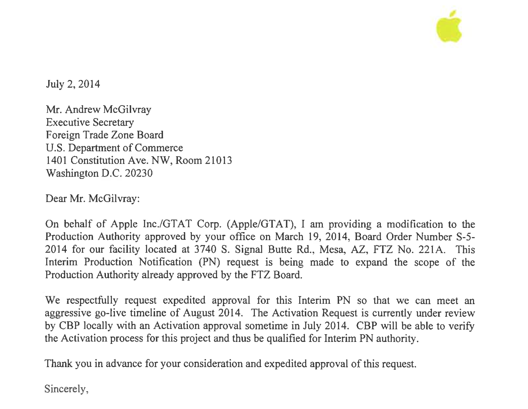 Cover Letter To Apple Files Kick Off Expanded Potentially Jewelry Classified