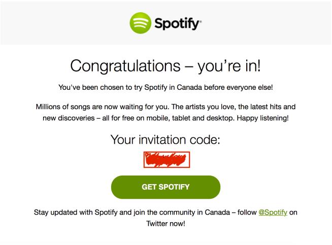 Spotify-Canada-invite