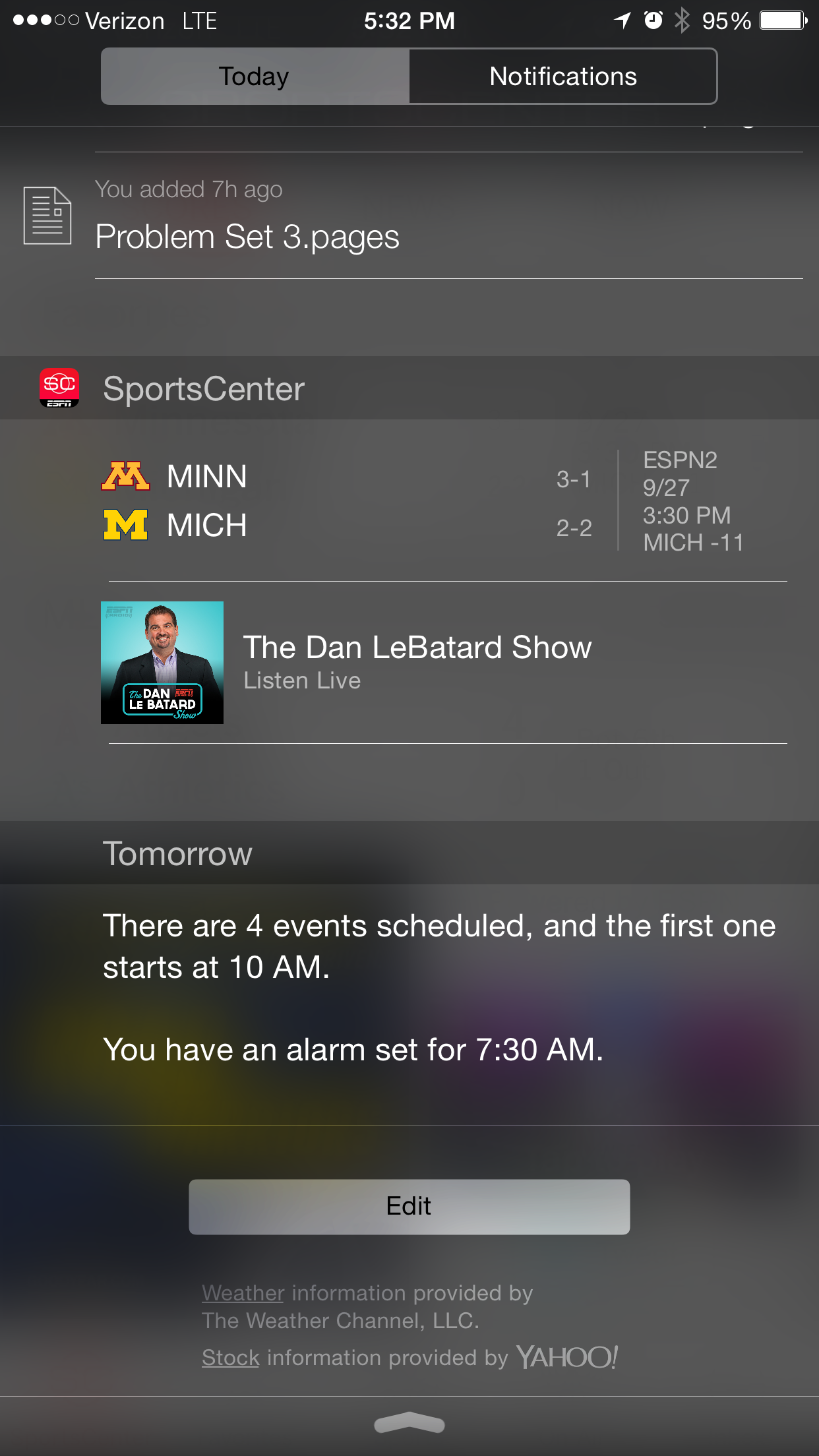 iOS 8's Notification Center gets a new useful widget: ESPN