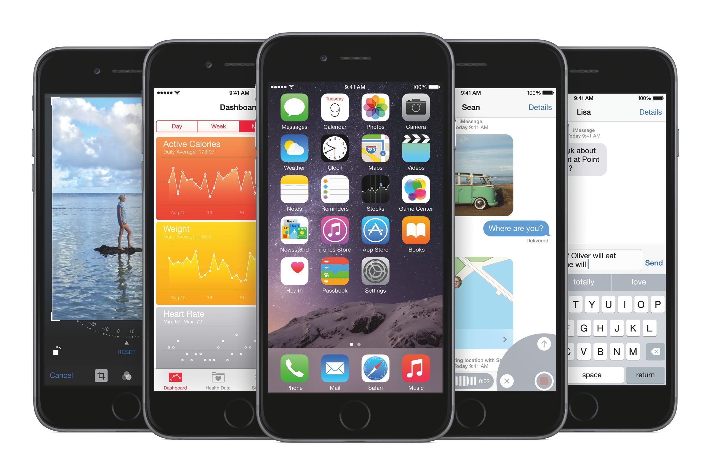 iOS 8 lead