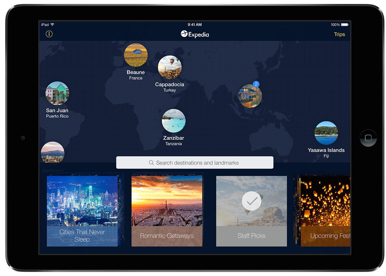 Expedia redesigns its iPad app with combined flight and hotel search