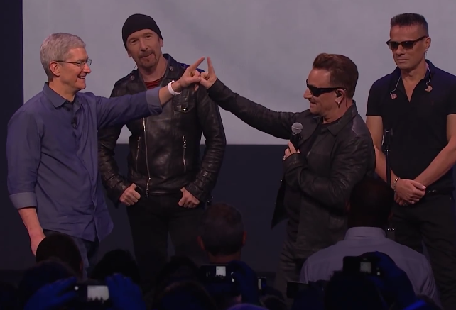 U2 Tim Cook free album