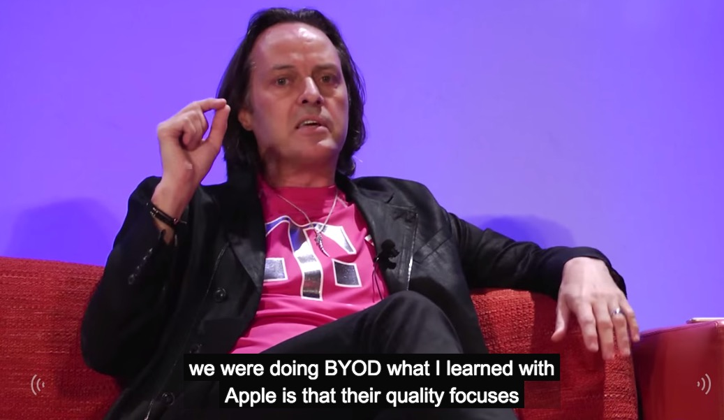 T-Mobile CEO Legere: Apple's 'incredible quality focus' pushed T-Mobile ahead, #bendgate is horses—t