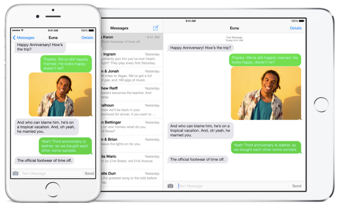 SMS Relay Text Message Forwarding iOS 8.1
