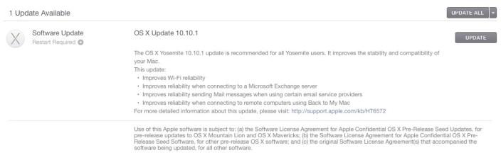 Yosemite 10.10.1