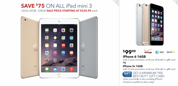 Best Buy's Black Friday 2014 Apple deals: iPad Air 2 $100 off, Beats Solo $80, MacBook Air from $780, more