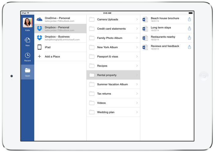 Office Dropbox iPad