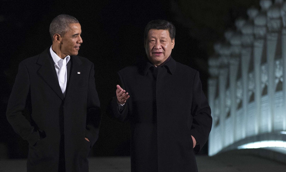 President Obama and President Xi Jinping in Beijing (photo: Agence France-Presse/Getty Images)